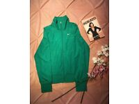 Nike Athletic Dept. Green zipped jumper top adult women's size 4 -6