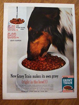1962  Border or Collie Dog Ad  Gravy Train