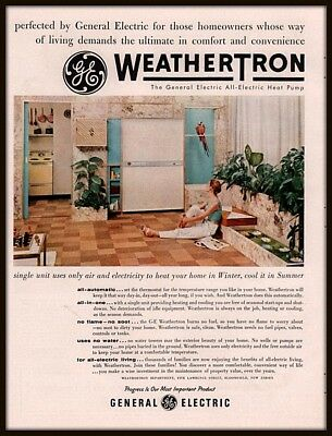 1955 B AD  GENERAL ELECTRIC WEATHERTRON ALL ELECTRIC HEAT PUMP KITCHEN MCCAW