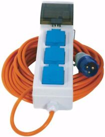 3 Socket 20m Power Cable, Power Lead. 230V Crusader V762