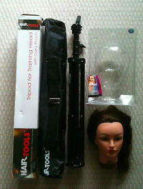 Huge makeup & hair stylist kit including training head, tripod, tools, stencils and more