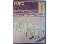 Haynes manual Ford Escort 180-1985
