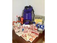 2-Person Emergency Survival & First Aid Kit (120 Components)