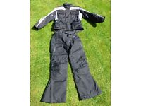 Womens Motorcycle jacket and trousers, size 10/12