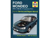 HAYNES FORD MONDEO SERVICE & REPAIR MANUAL 1993 to 1999 PETROL