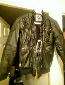 G-STREET Leather Wax Style Bomber