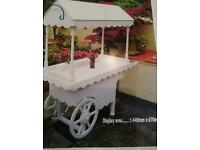 WOOD CANDY / SWEET / FLOWER DISPLAY CART FOR SALE