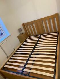 Kingsize Oak ottoman bed frame