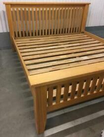 Solid oak king size bed frame great quality and condition