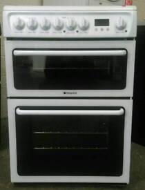 HOTPOINT DOUBLE OVEN ELECTRIC COOKER**FREE LOCAL DELIVERY 3 MONTHS GUARANTEE**