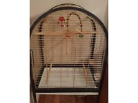 GOLD NEW AND CLEAN bird cage with toys