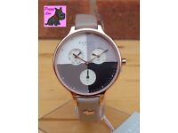 Radley RY2430 Ladies 'Abbey Woodland' Taupe Leather Chronograph Watch / NEW - RRP: £150