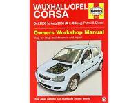 Haynes Manual Vauxhall/Opel Corsa