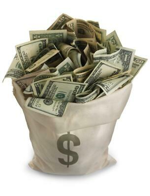 BAG OF MONEY GLOSSY POSTER PICTURE PHOTO currency dollars bills rich decor $ 418 (Rich Decor)