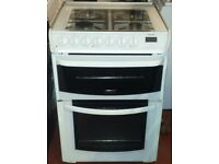 cannon 60cm wide double oven and grill dual fuel cooker