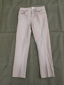 Womans NEW LOOK - Beige Ribbed Jeans - Size10