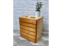 Small Wooden Drawers Office School Stationary #649