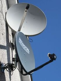 Satellite dish or dishes (with wall mounts and LMBs)