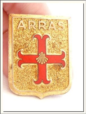 LOVELY VINTAGE ENAMEL FRENCH PIN BROOCH FROM ARRAS ! VISIT MY STORE ! - Christian Jewelry Store