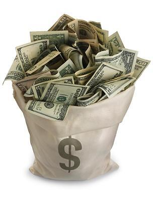 BAG OF MONEY GLOSSY POSTER PICTURE PHOTO currency dollars bills rich decor $ 418 - Bag Of Money