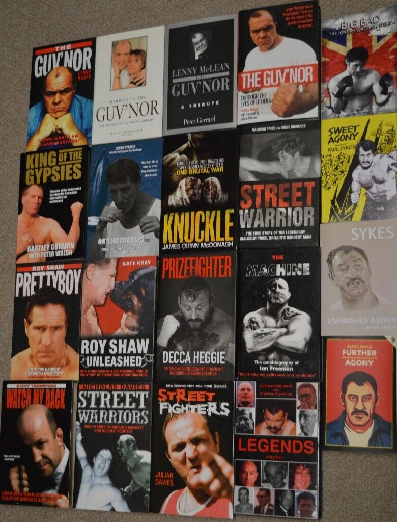 20 hardmen/bare knuckle fighters books 16 hardback/4 paperback one autographed