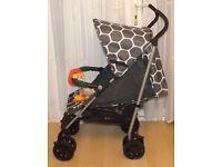 ladybird pram , stroller ,in grey with bumper bar + raincover + toy