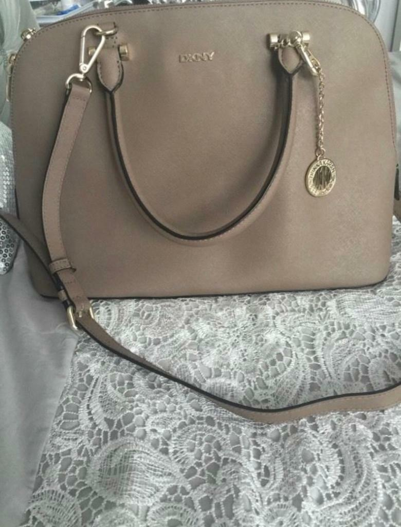 Grey saffino dkny bag
