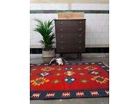 SURI - Antique Vintage Traditional Persian Kilm Wool Rug 150 x 100cm Handmade
