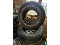 All terrain tyres x2