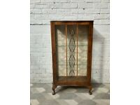Vintage Glass Display Cabinet #838