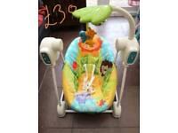 Car seat + Baby bouncer + baby door swing