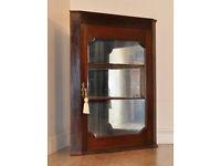 Attractive Small Antique Victorian Mahogany Glazed Corner Display Cabinet