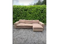 FREE DELIVERY 🚚 HUGE DFS BROWN FABRIC CORNER SOFA GOOD CONDITION