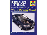 HAYNES RENAULT LAGUNA MANUAL COVERS 2001 - 2005 PETROL & DIESEL MODELS