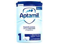 Aptamil first Infant milk. Unopened box