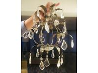 Chandeliers - Crystal teardrops, brushed chrome from M&S