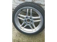 """BMW Parallel style 37 genuine 18"""" 8J alloy wheel with good tire."""