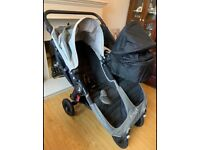 Baby Jogger City Mini GT Double Buggy (with carrycot)