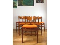 Very Rare Mid-Century 1960s Six Italian Chairs by Arch Ramella for Luigi Sormani FREE LOCAL DELIVER