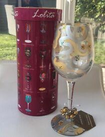 Lolita 'Jingle Bells' Wine glass
