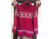 GIRLS CHRISTMAS JUMPER age 9-10 years