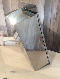 Square mirrored cabinet