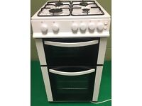Freestanding Logic White gas cooker model LFSTG50W 50cm in excellent condition