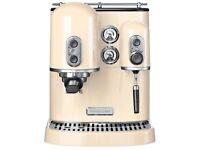 KitchenAid Espresso Machine. Brand New Boxed. Cream