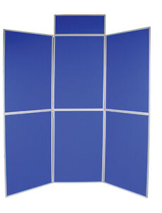 Exhibition Folding Display Boards - 6 Panel Lightweight Folding Stand