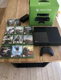 XBOXONE 500GB Black Console with Kinect + 9 Games