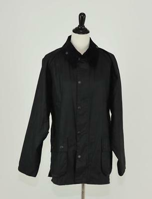 MEN'S BARBOUR EQUESTRIAN BEDALE WAX COTTON JACKET 46 XXL BLACK 19353