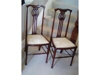 Pair two chairs art nouveau style exquisite quality