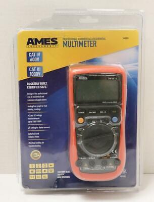 New - Ames Dm1010 Pro Cat Iv 600v Commercial Residential Multimeter