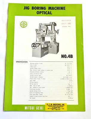 Mitsui Seiki 4b Optical Jig Boring Machine Brochure